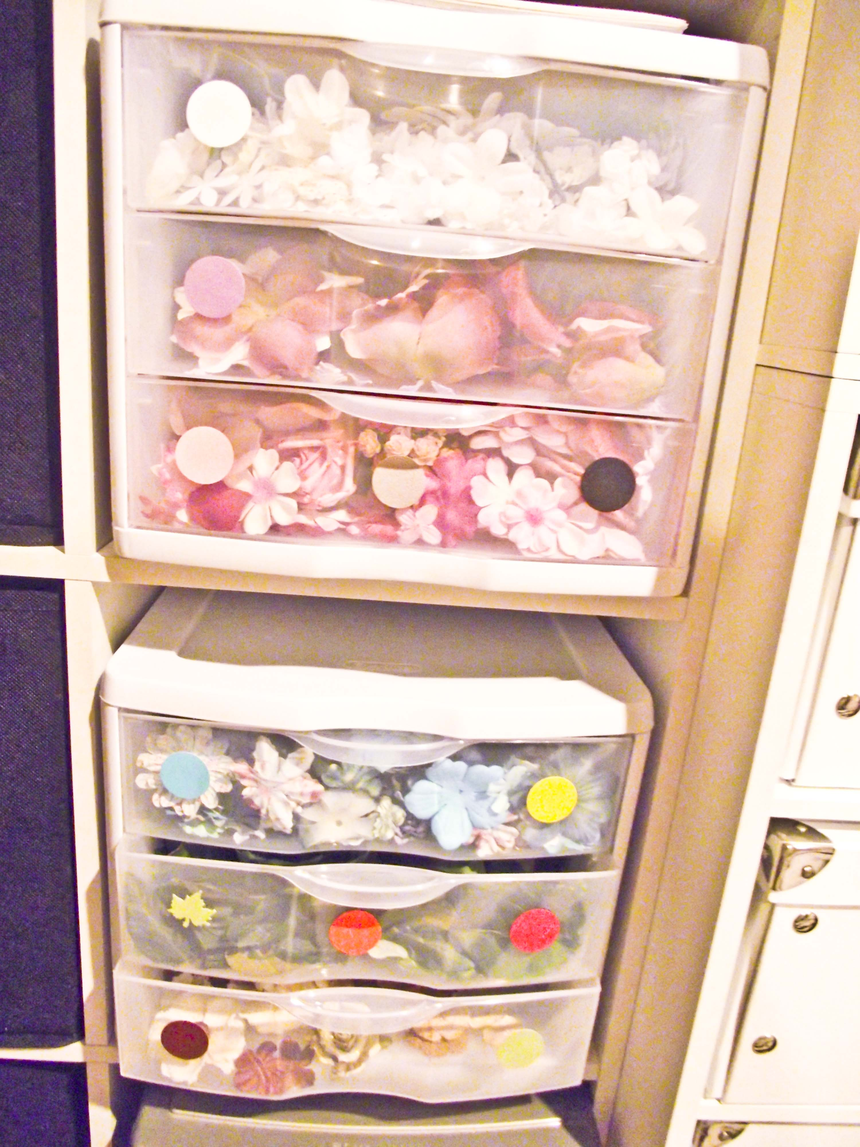 Flower drawer unit