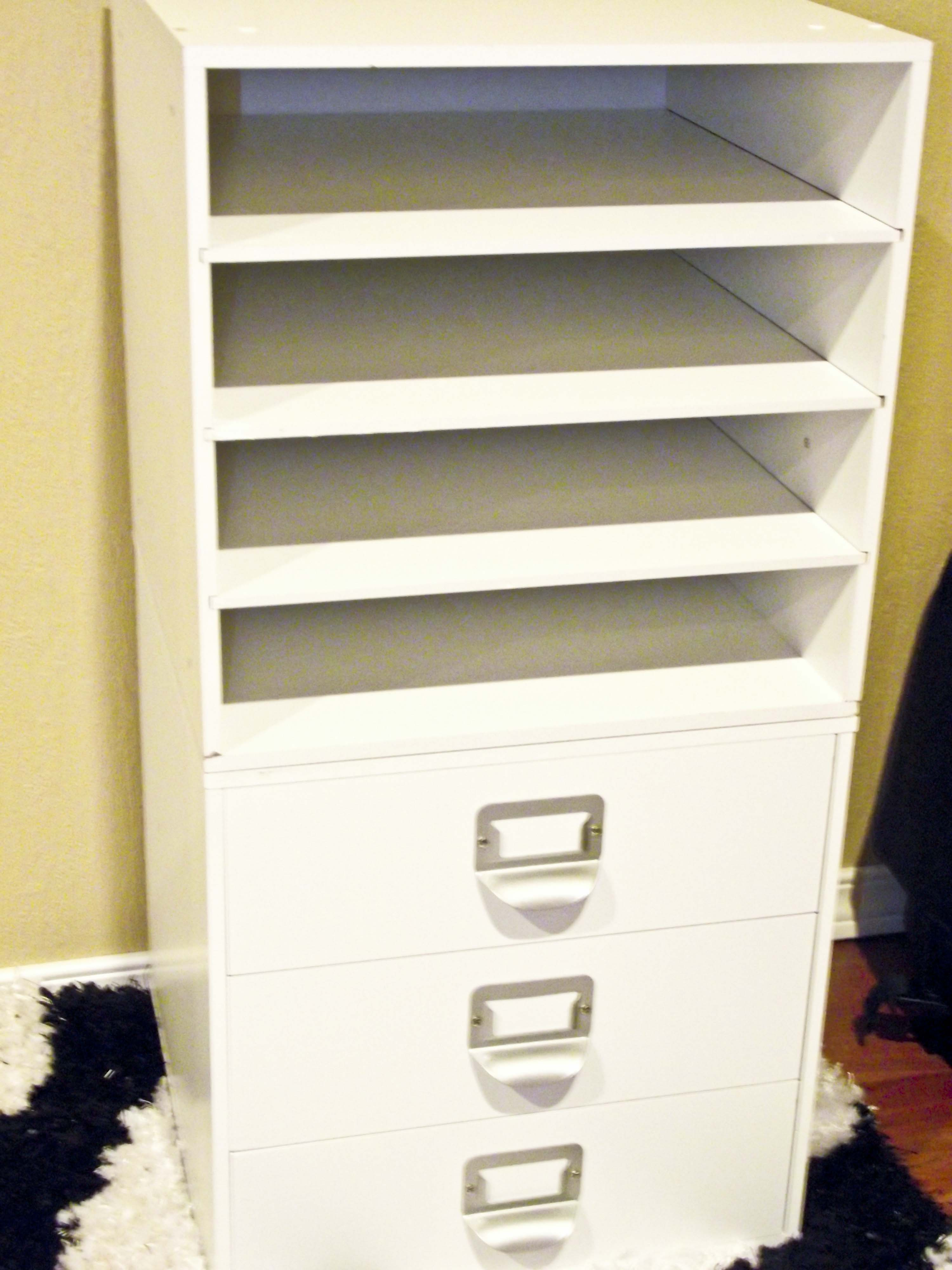 Craft room shelves drawers