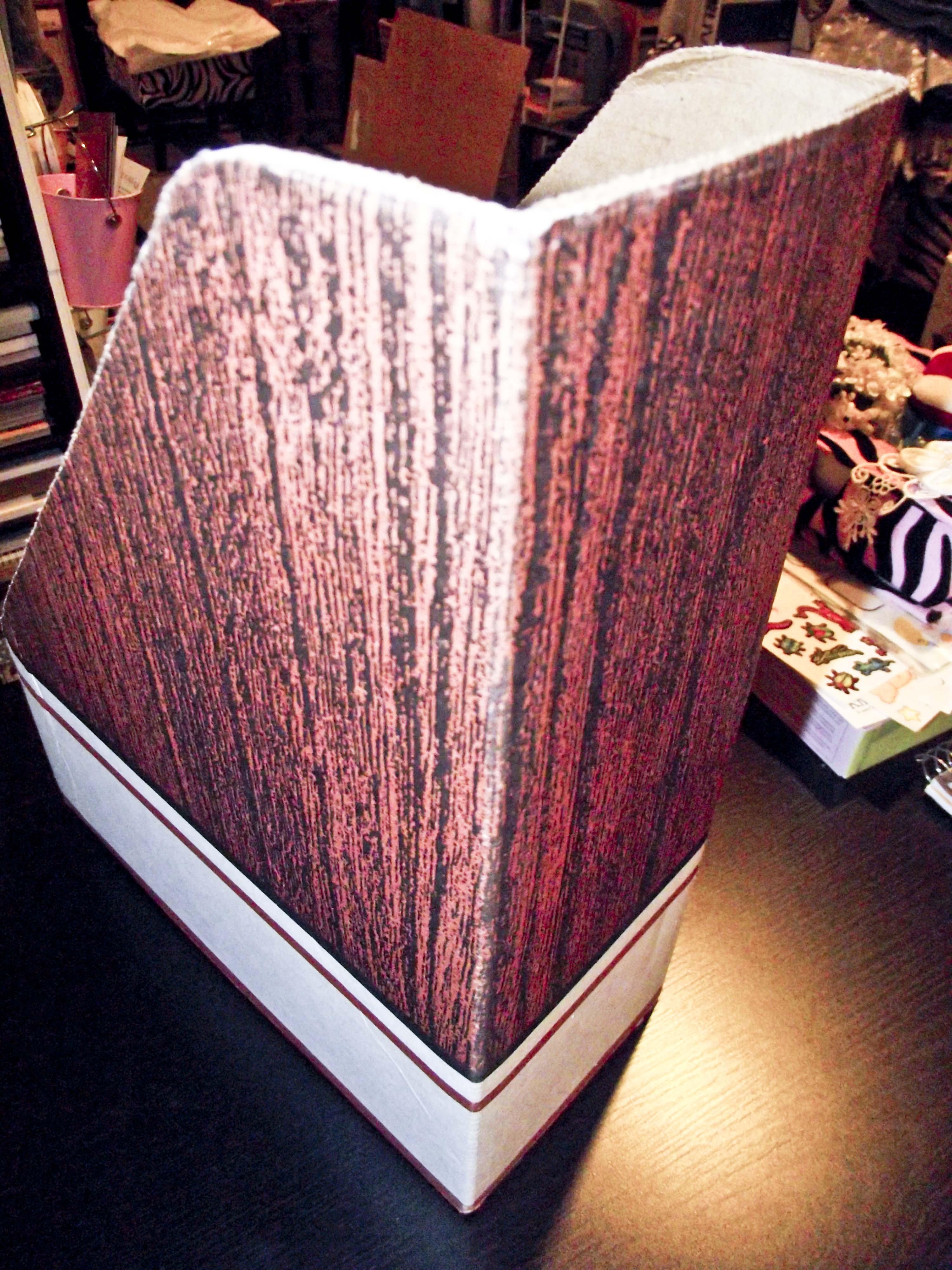 Craft room brown magazine holder