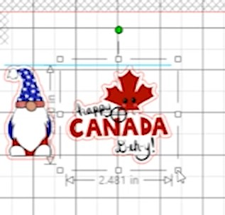 Canada Day size to 2 inch
