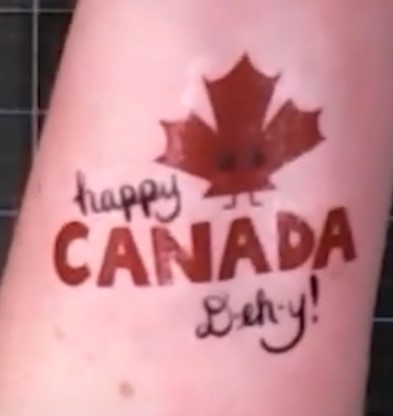 Canada Day tattoo complete