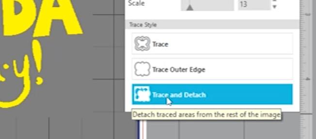 Click trace and detach