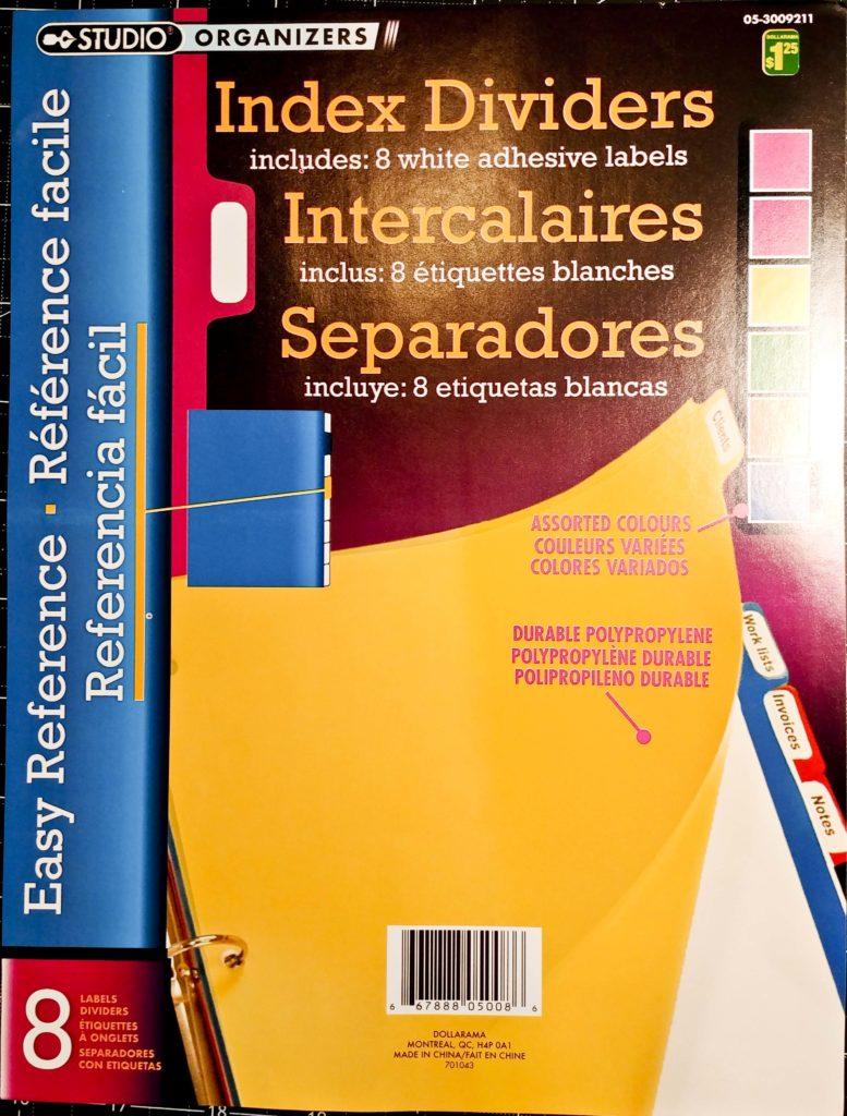 Index Dividers 1