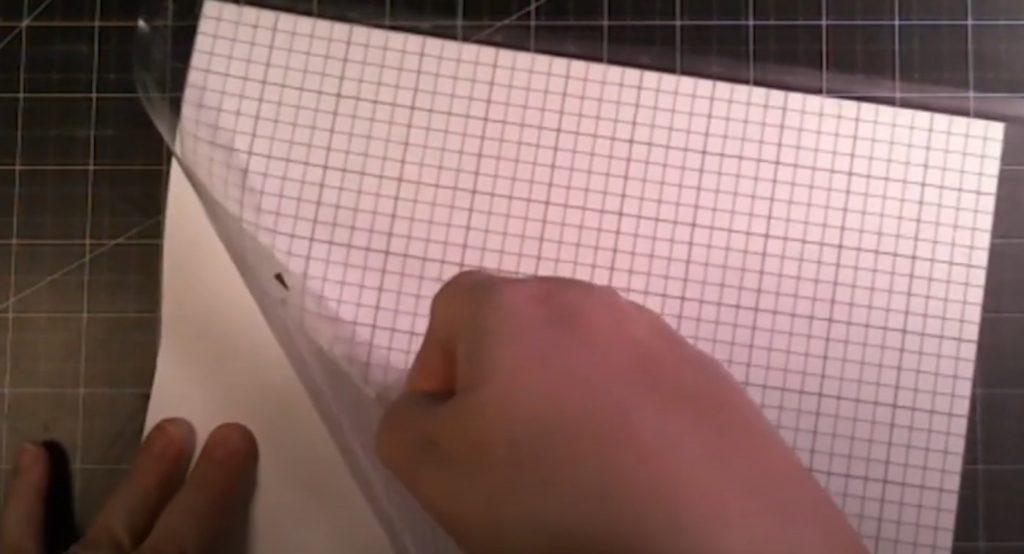 Peel mat off tattoo paper