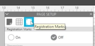 Registration Marks Panel